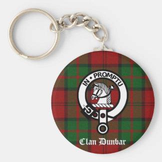 Clan Dunbar Tartan Crest Badge Key Chains