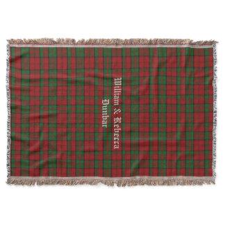 Clan Dunbar Tartan Plaid Custom Throw Blanket