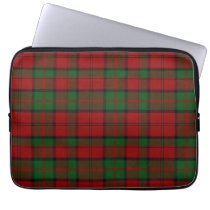 Clan Dunbar Tartan Plaid Laptop Cover