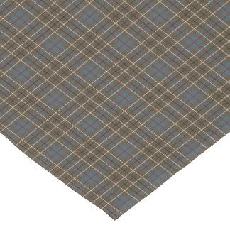 Clan Duncan Brown and Gray Reproduction Tartan Short Table Runner