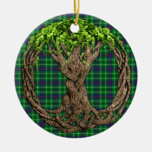 Clan Duncan Tartan And Celtic Tree Of Life