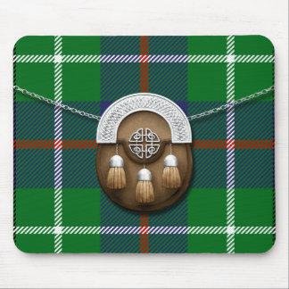 Clan Duncan Tartan And Sporran Mouse Pad