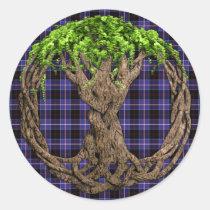 Clan Dunlap Tartan And Celtic Tree Of Life