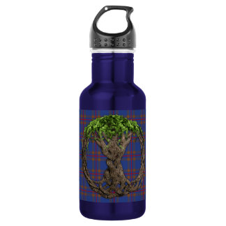 Clan Elliot Tartan And Celtic Tree Of Life Water Bottle