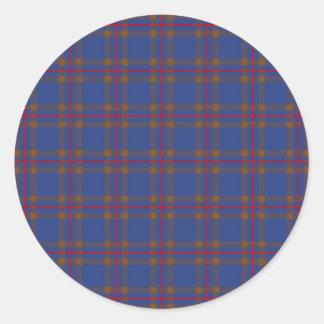 Clan Elliot Tartan Round Stickers