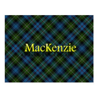 Clan escocés MacKenzie Tarjeta Postal