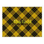 Clan escocés MacLeod del tartán de Lewis Postal