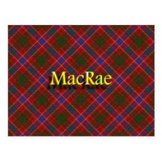 Clan escocés MacRae Tarjeta Postal