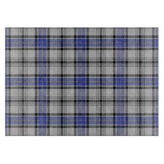 Clan escocés tartán azul y blanco de Hannay Tabla Para Cortar