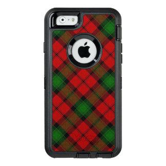 Clan escocés tartán rojo y verde de Kerr Funda OtterBox Defender Para iPhone 6