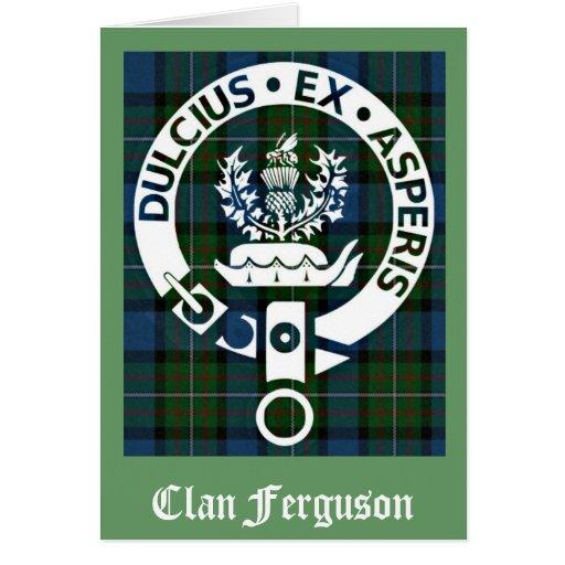 Clan Ferguson Crest Tartan Card