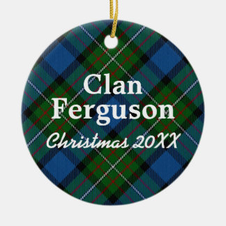 Clan Ferguson Scottish Tartan Ceramic Ornament