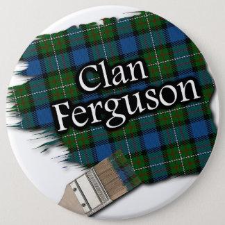 Clan Ferguson Tartan Paint Brush Button