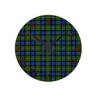 Clan Fergusson Tartan Round Clock