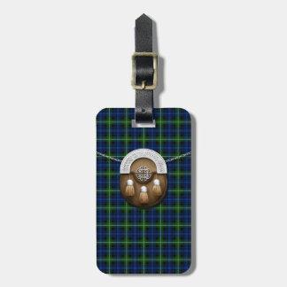 Clan Forbes Tartan And Sporran Luggage Tag