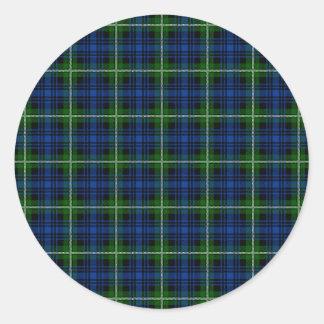 Clan Forbes Tartan Classic Round Sticker
