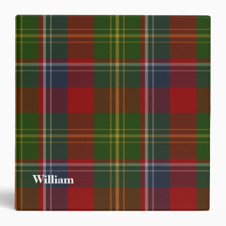 Clan Forrester Custom Tartan Plaid Binder