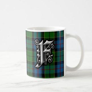 Clan Forsyth Forsythe Letter F Monogram Tartan Coffee Mug