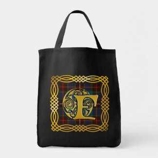 Clan Fraser Ancient Tartan F Initial Tote Bag