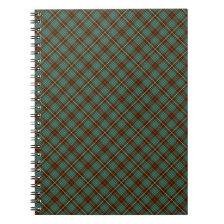 Clan Fraser Brown and Green Hunting Tartan Notebook