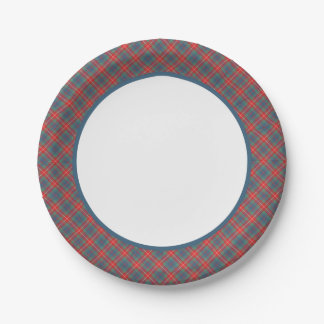 Clan Fraser of Lovat Ancient Tartan Border Paper Plate