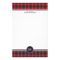 Clan Fraser of Lovat Modern Tartan Monogram Stationery