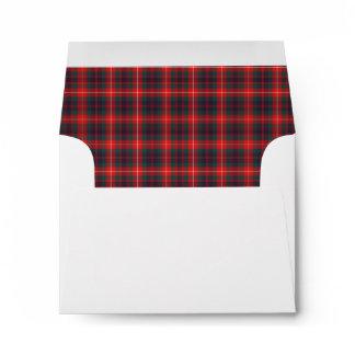 Clan Fraser of Lovat Modern Tartan Red Plaid Envelope