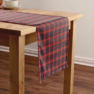 Clan Fraser of Lovat Red and Blue Modern Tartan Short Table Runner