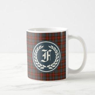 Clan Fraser of Lovat Reproduction Tartan Monogram Coffee Mug