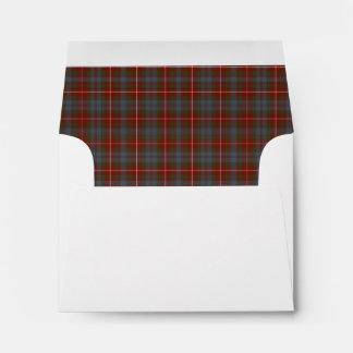 Clan Fraser of Lovat Weathered Tartan Envelope