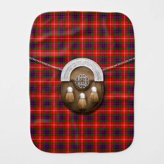 Clan Fraser Tartan And Sporran Baby Burp Cloth
