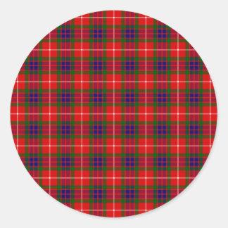 Clan Fraser Tartan Classic Round Sticker