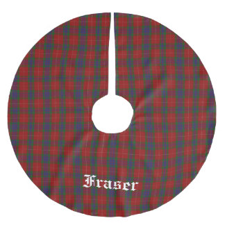Clan Fraser Tartan Plaid Tree Skirt