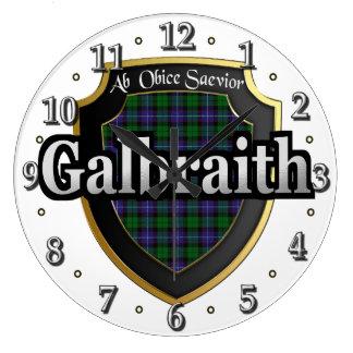 Clan Galbraith Tartan Scottish Dream Clock