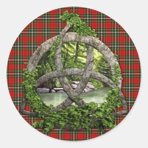 Clan Gillespie Tartan Celtic Trinity
