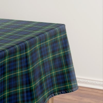 Gordon Dress Tartan Plaid Table Cloth | Zazzle.com
