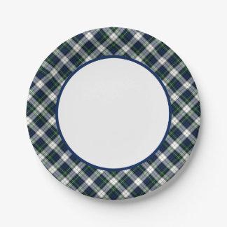 Clan Gordon Dress Tartan Border Paper Plate