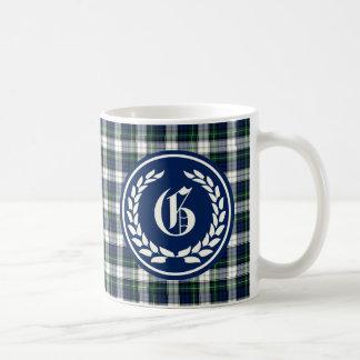 Clan Gordon Dress Tartan Monogram Classic White Coffee Mug