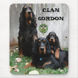 CLAN GORDON, pintura del organismo de Gordon en un Alfombrillas De Raton
