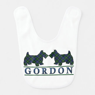 Clan Gordon Scottie Dogs Scottish Tartan Bib