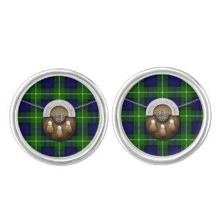 Clan Gordon Tartan And Sporran Cufflinks