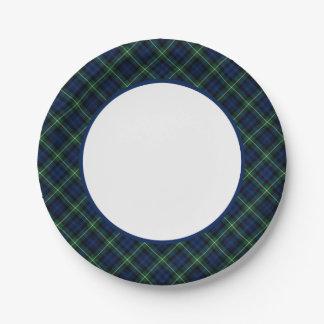 Clan Gordon Tartan Border Paper Plate