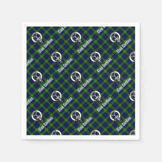 Clan Gordon Tartan Crest Napkin