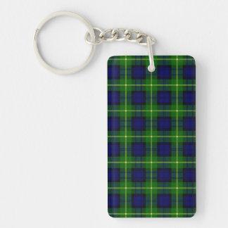 Clan Gordon Tartan Double-Sided Rectangular Acrylic Keychain