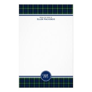 Clan Gordon Tartan Monogram Stationery