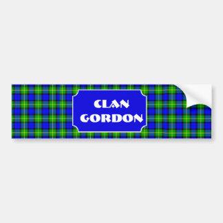 Clan Gordon Tartan Name Bumper Sticker