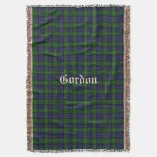 Clan Gordon Tartan Plaid Custom Throw Blanket