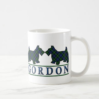 Clan Gordon Tartan Scottish Scottie Dogs Classic White Coffee Mug