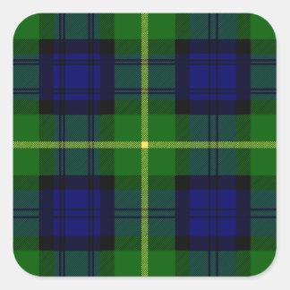 Clan Gordon Tartan Square Sticker