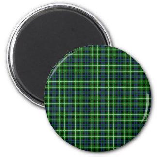 Clan Graham Tartan 2 Inch Round Magnet